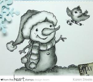 pencil candy cane snowman 2