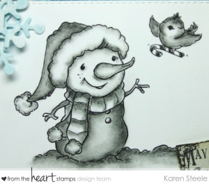 pencil candy cane snowman 2