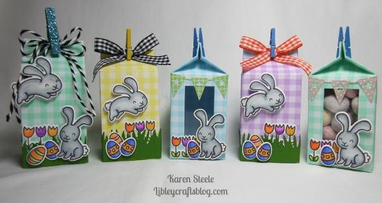 Easter milk cartons